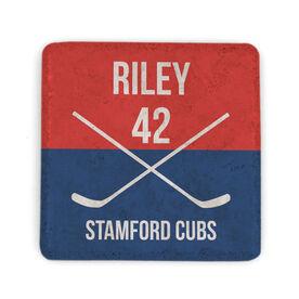 Hockey Stone Coaster - Personalized Player