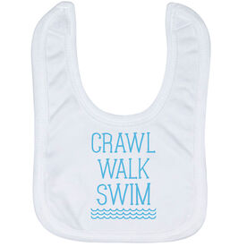 Swimming Baby Bib - Crawl Walk Swim