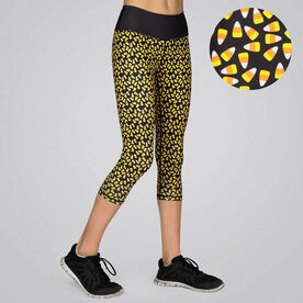 Running Performance Capris - Candy Corn