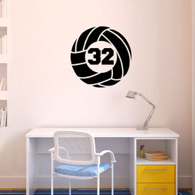 Volleyball Wall Decal Volleyball With Number