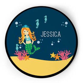 Personalized Circle Plaque - Mermaid