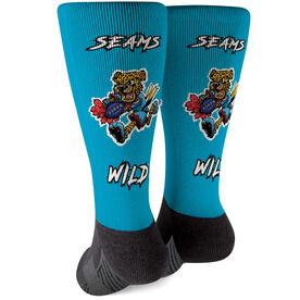 Seams Wild Football Printed Mid-Calf Socks - Spotz
