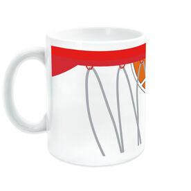 Basketball Coffee Mug Above The Rim