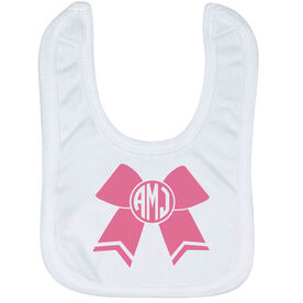 Cheerleading Baby Bib - Monogrammed Cheer Bow