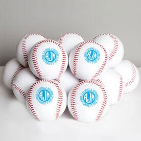 Custom Baseball Monogram Birth Announcement