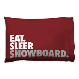 Snowboarding Pillowcase - Eat Sleep Snowboard