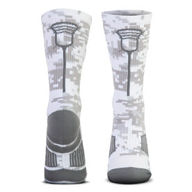 Guys Lacrosse Woven Mid-Calf Socks - Digital Camo