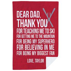 Skiing Premium Blanket - Dear Dad