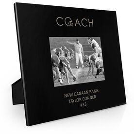 Football Engraved Picture Frame - Coach
