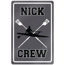 "Crew 18"" X 12"" Aluminum Room Sign Personalized Crew Sign Guy"