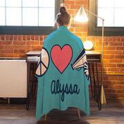 Cheerleading Premium Blanket - Personalized Peace Love Cheer