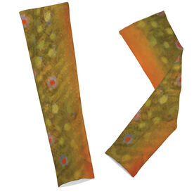 Fly Fishing Printed Arm Sleeves Brook Trout Scales