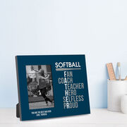 Softball Photo Frame - Softball Father Words