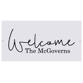 """Personalized Indoor/Outdoor Sign (8"""" x 16"""") - Welcome Family Sign"""