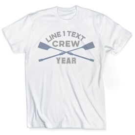 Vintage Crew T-Shirt - Team Name with Crossed Oars