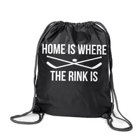 Hockey Sport Pack Cinch Sack - Home Is Where The Rink Is