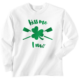 Crew Tshirt Long Sleeve Kiss Me I Row