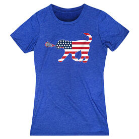 Girls Lacrosse Women's Everyday Tee - Patriotic LuLa the Lax Dog