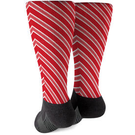 Printed Mid-Calf Socks - Peppermint Stripes