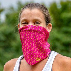 Running Multifunctional Headwear - Girl Stick Figure Pattern Pink RokBAND