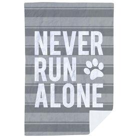 Running Premium Blanket - Never Run Alone (Bold)