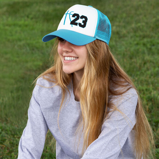 Basketball Trucker Hat Numbers