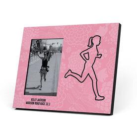 Running Photo Frame - Floral Runner Girl