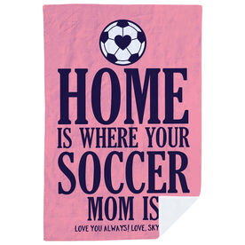 Soccer Premium Blanket - Home Is Where Your Soccer Mom Is