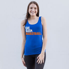 Basketball Women's Athletic Tank Top Eat. Sleep. Basketball.