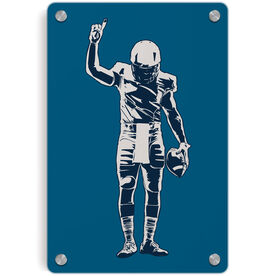 Football Metal Wall Art Panel - Number One Player