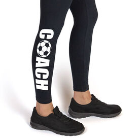 Soccer Leggings Coach with Soccer Ball