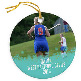 Field Hockey Porcelain Ornament Your Photo Here