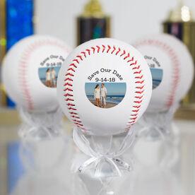 Wedding Photo Custom Baseball