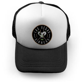 Trucker Hat - Las Vegas Sinners Logo (Black)