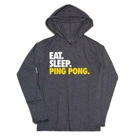 Men's Ping Pong Lightweight Hoodie - Eat Sleep Ping Pong