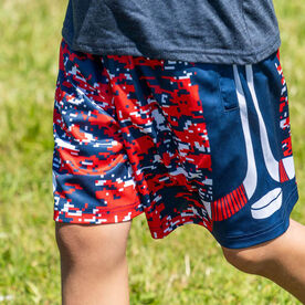 Patriotic Digital Camo Hockey Shorts