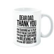Softball Coffee Mug - Dear Dad