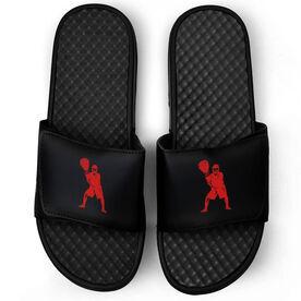 Lacrosse Black Slide Sandals - Goalie