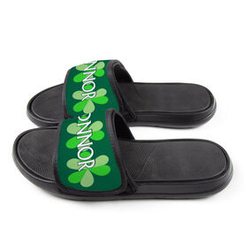 Personalized For You Repwell® Slide Sandals - Shamrocks