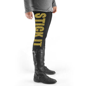 Gymnastics High Print Leggings Stick It