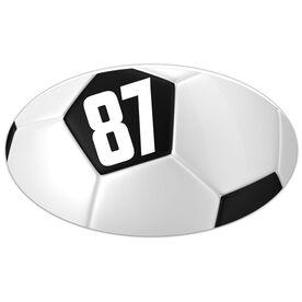 Soccer Oval Car Magnet Soccer Ball Texture