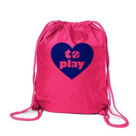 Softball Sport Pack Cinch Sack Heart to Play