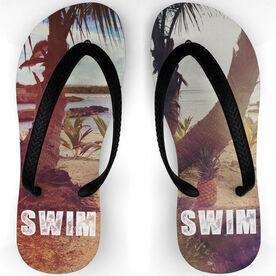 Swimming Flip Flops Paradise