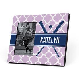 Softball Photo Frame - Personalized Softball Bats Quatrefoil