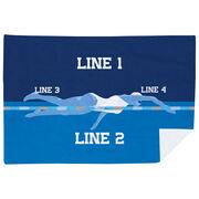 Swimming Premium Blanket - Personalized Swimming Girl Team