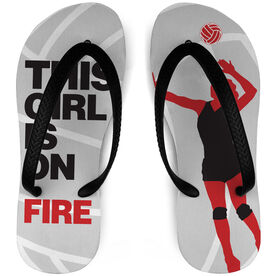Volleyball Flip Flops This Girl Is On Fire