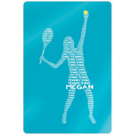 "Tennis 18"" X 12"" Aluminum Room Sign - Personalized Tennis Words Girl"