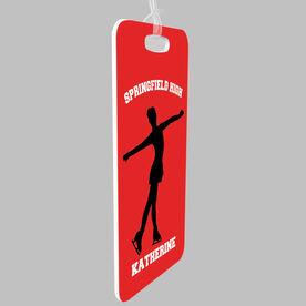 Figure Skating Bag/Luggage Tag - Figure Skater Team Silhouette