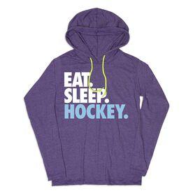 Women's Hockey Lightweight Hoodie - Eat Sleep Hockey