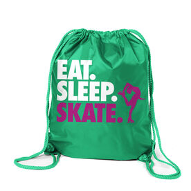 Figure Skating Sport Pack Cinch Sack Eat. Sleep. Skate.